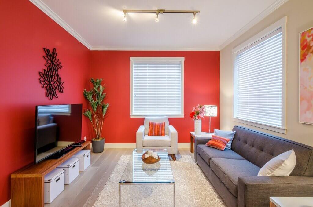 Verschillende toepassingen voor de kleur rood in decoratie