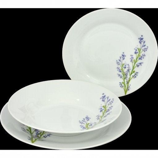 Aparelho de jantar de Porcelana Lavande