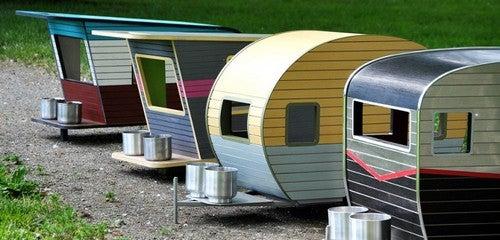 casinhas de cachorro em forma de trailer
