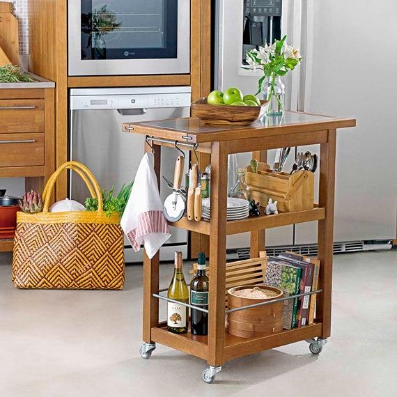 carrinhos auxiliares de cozinha gourmet