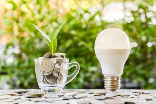 Economia lâmpadas LED