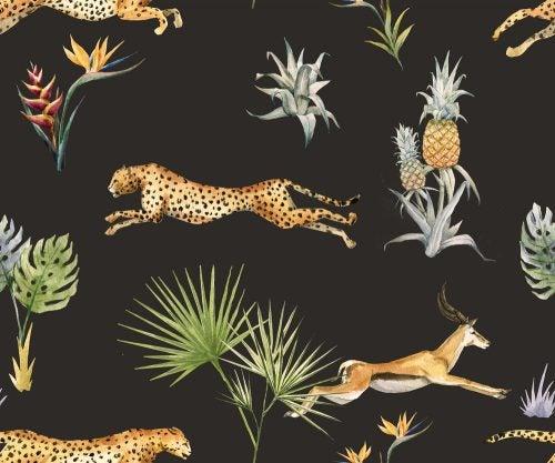 Decoração com motivos de animais da savana africana