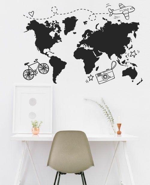 dicas e ideias para decorar sua casa com mapas