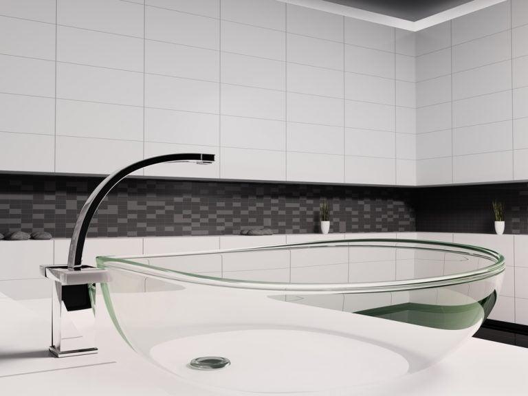 pia de vidro-decorar a sua casa usando transparências