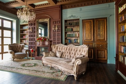 sala no estilo vitoriano