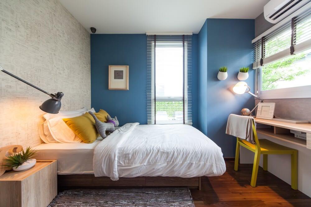 Mantenha a proporcionalidade nos quartos pequenos