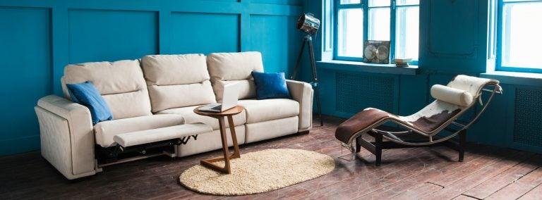 Sala vintage com cores marcantes