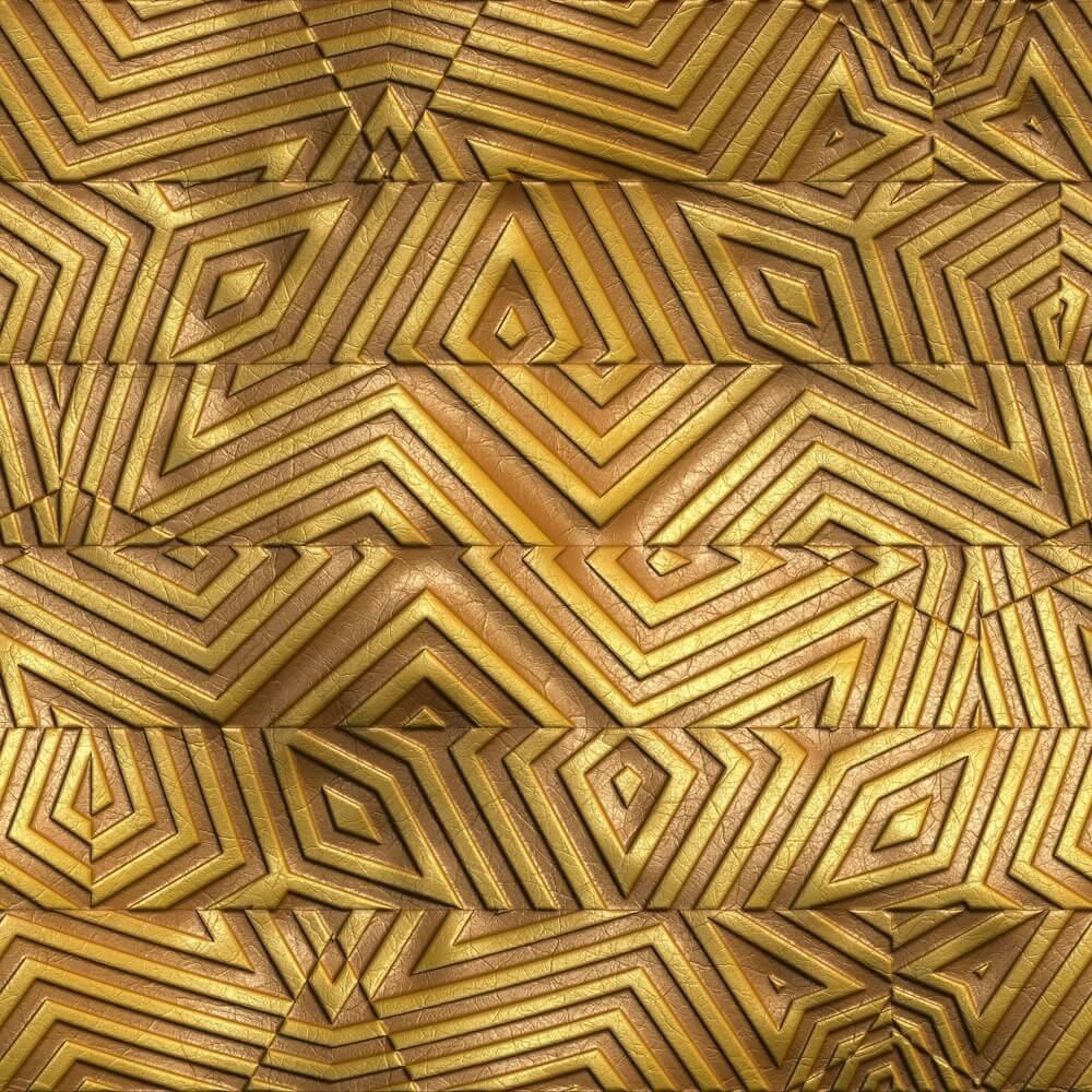 Azulejos dourados, glamour no banheiro