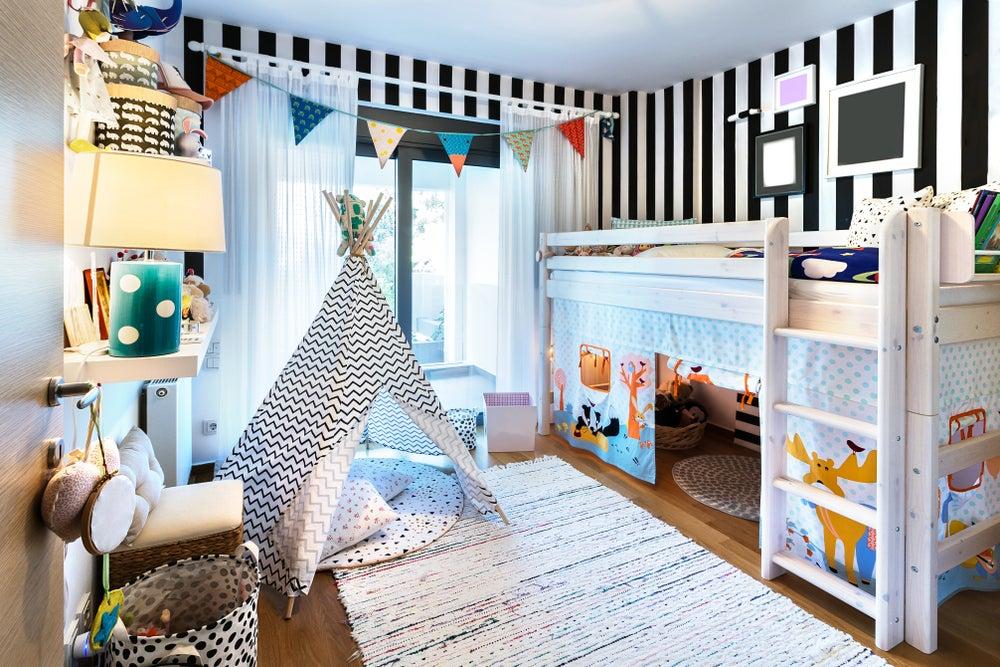 Beliches modernos com espaço para brinquedos