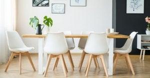 cadeiras da mesa de jantar
