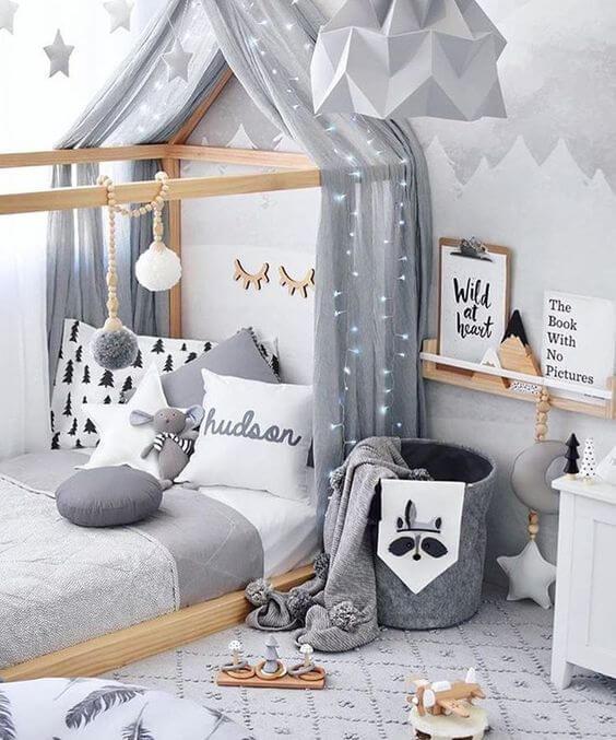 cama em quarto de criança