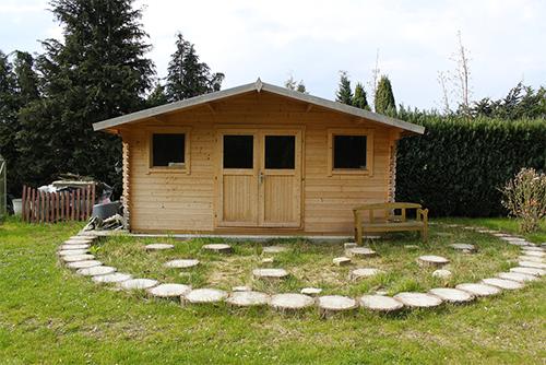 2 sugestões de casinhas de jardim