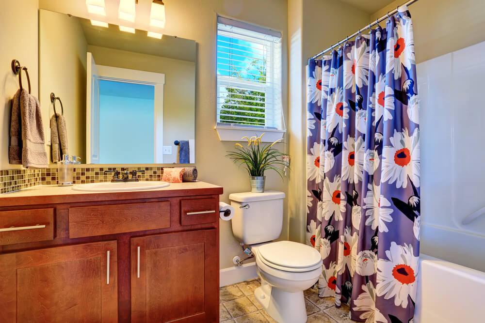 cortina para ducha com estampa