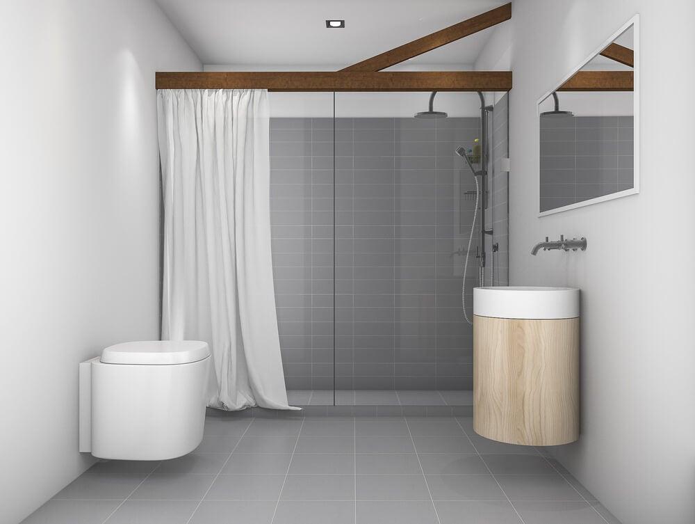 cortina para ducha de poliester