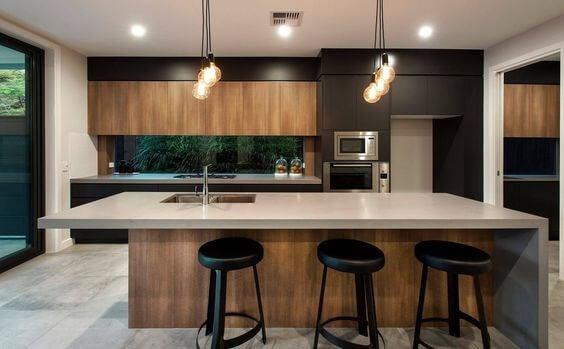 Design e decoração de cozinhas modernas
