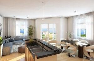 Sala com dois ambientes