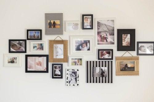 colagem de fotos como decoração