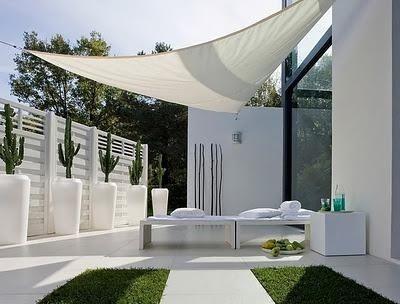 decorar o seu jardim no estilo minimalista