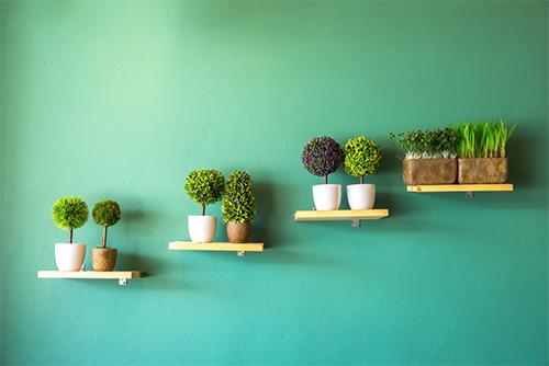 Como decorar com murais botânicos