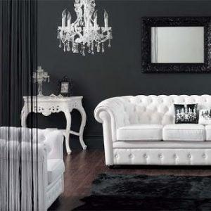 Sofá chester branco