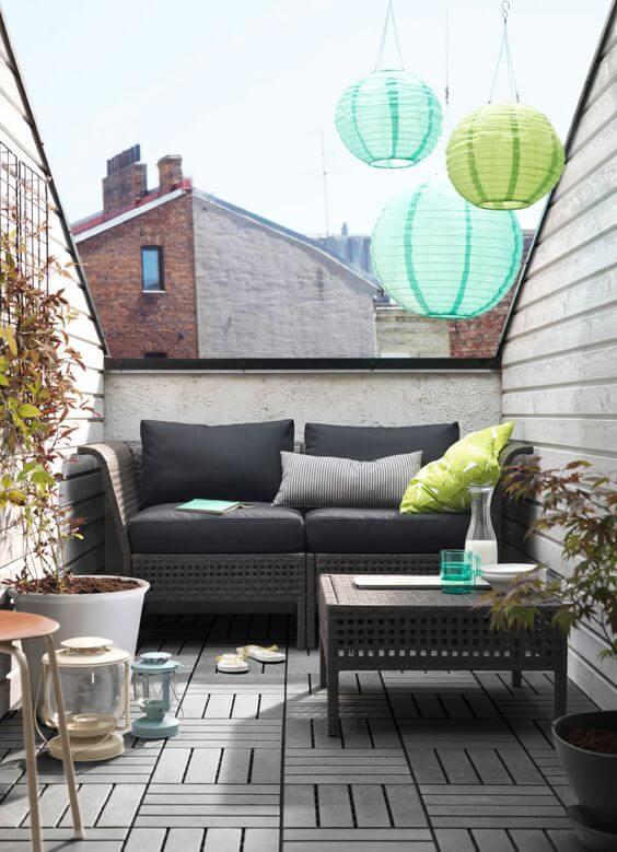 sofá de varanda