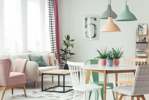 Ideias para criar uma sala com dois ambientes