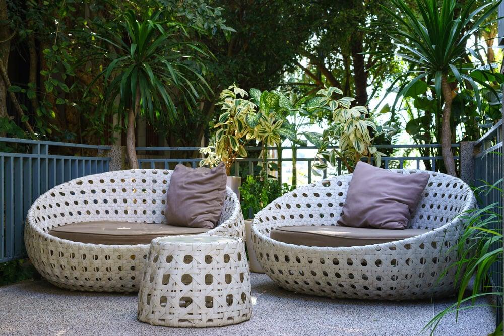 Materiais utilizados nas cadeiras para exteriores