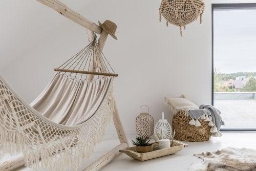 redes na decoração de interiores
