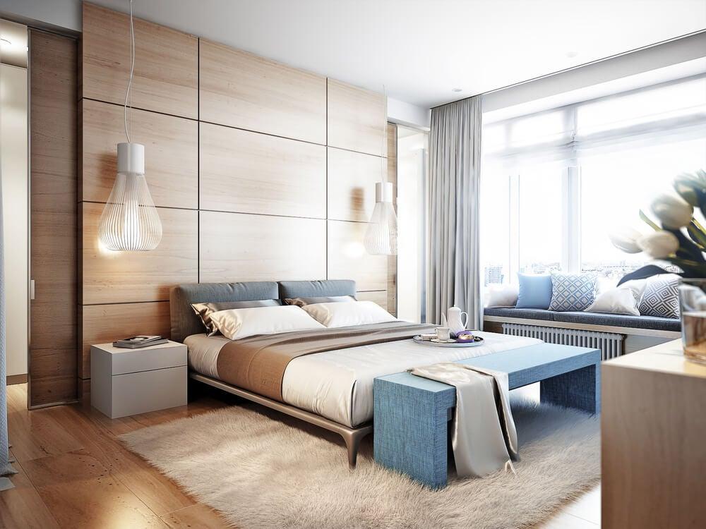 As camas baixas ampliam o espaço visual