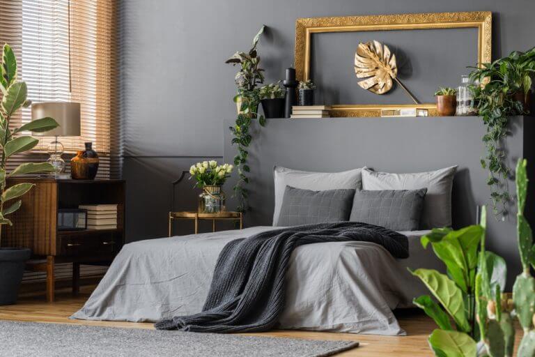 cama colcha preta- decoração usando o preto