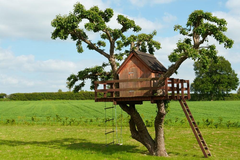 5 maneiras de construir uma casa na árvore para as crianças