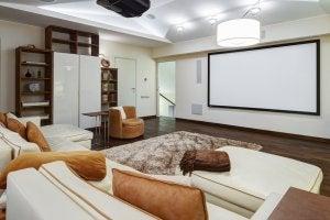 decorar o seu quarto-tela cinema