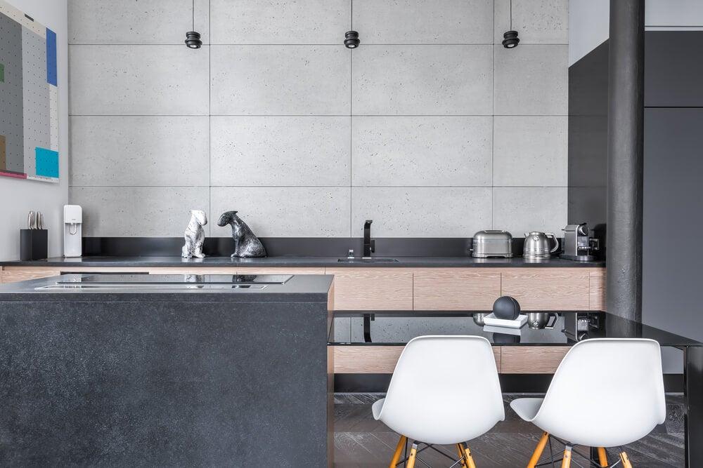 cozinha- combinar o cinza e marrom
