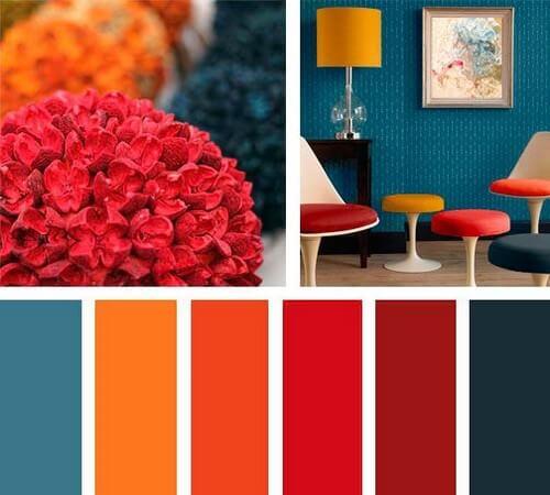 diferentes cores para decoração