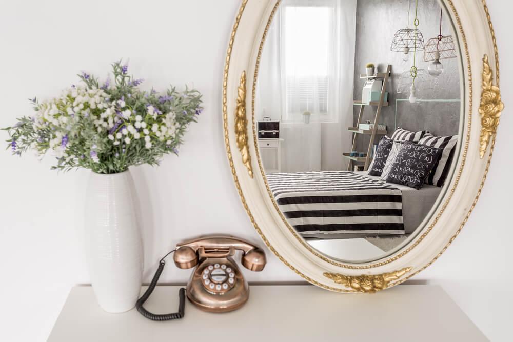 ideias de espelho vintage