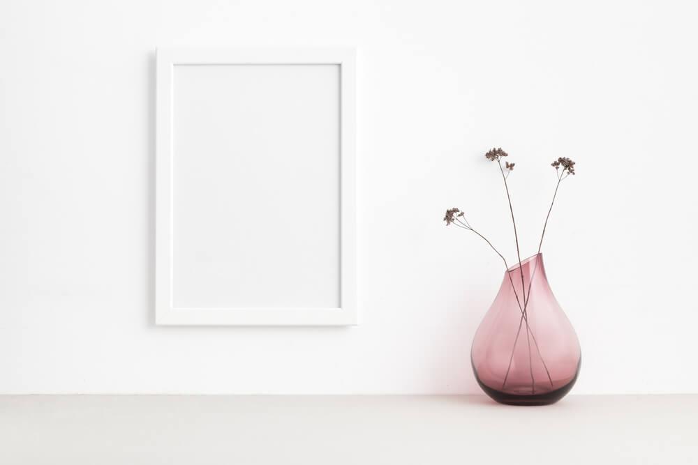 Jarro de cristal-Vasos como elementos decorativos
