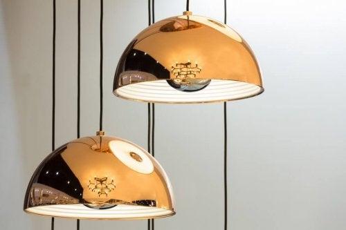 luminária de cobre para decoração industrial