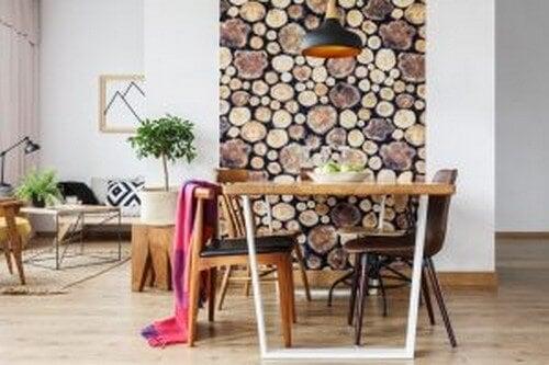papel de parede com texturas de madeira