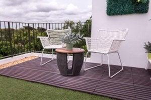 plantas no terraço