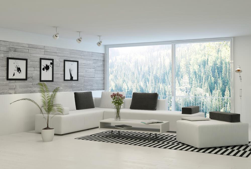 Como decorar a sala de estar com móveis grandes