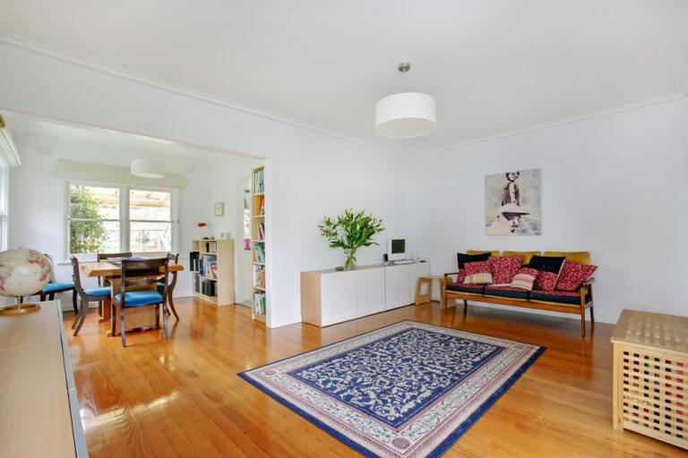 sala de jantar e sala de estar integradas estilo boêmio