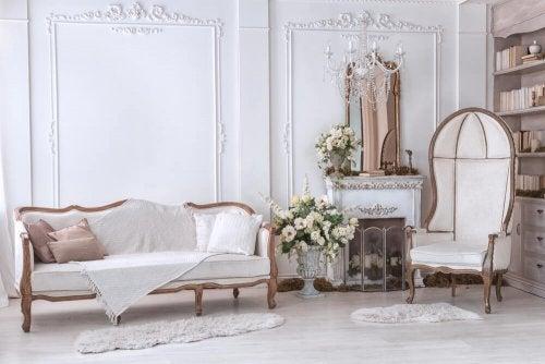 Uma decoração no estilo clássico moderno