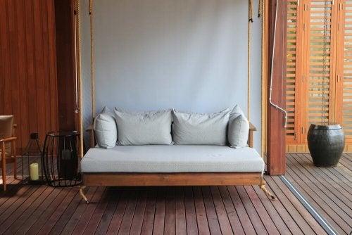 tecidos na cama balinesa