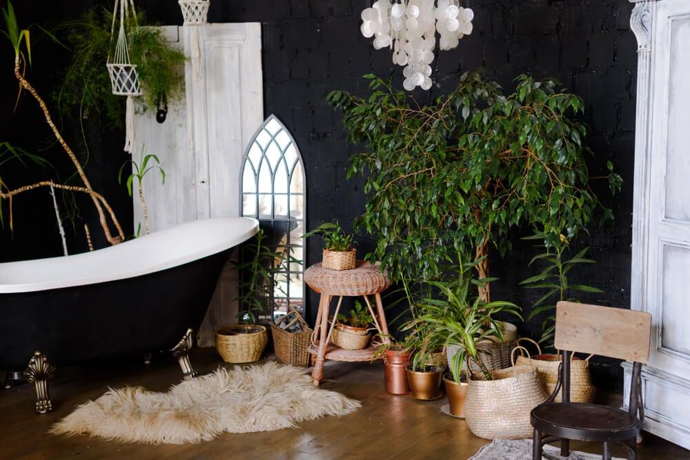 Decorar banheiros com o estilo tropical