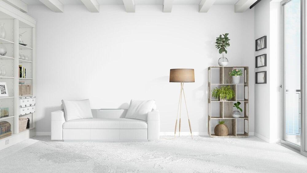 Tipos de almofadas para um sofá branco