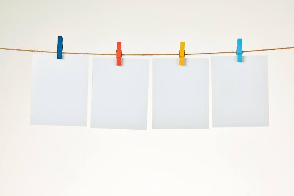 Faça um varal com fotos polaroid-fotos de família