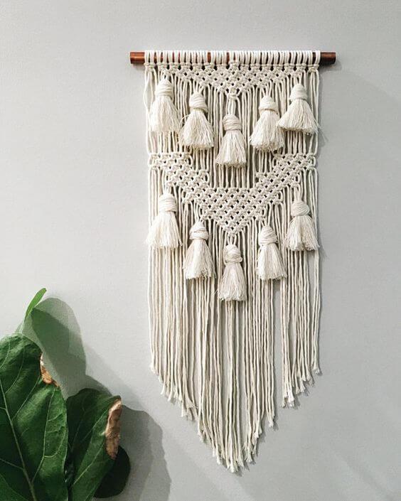 decoração com franjas