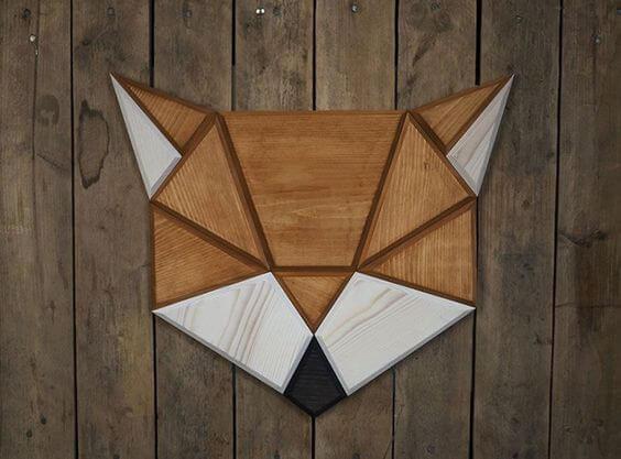 Como fazer quadros com formas geométricas em madeira