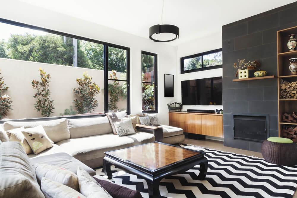 decorar o seu apartamento com preto