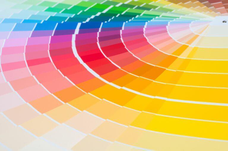 As cores na decoração